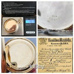 WOW Hamilton Solid 14K 16S 23J 950 Wrist Pocket Watch with Original Box Paper