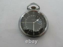 WW2 1944 Hamilton GCT 4992B 22 Jewels Military Navigation Pocket Watch