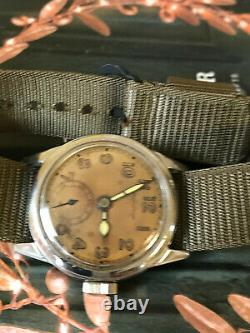 WW2 Hamilton US military men's watch, OD Type issued number 13911