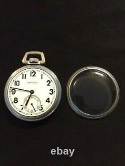 WWII 1940-1941 Hamilton 2974B Navy Comparing Pocket Watch 16s 17j-Runs Great