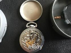 WWII Hamilton GCT 24 Hour US Army Air Corps Navigation Pocket Watch with A-9 Case