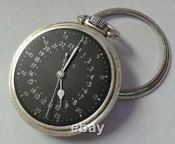 WWII Hamilton GCT 4992B Navigation Military Pocket Watch 22J 16S 800 Silver Case