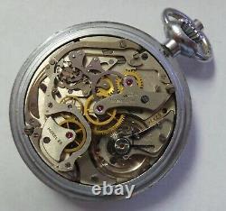 WWII Vintage Hamilton Model 23 Military Chronograph Pocket Watch 19 Jewels 16S