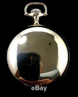Waltham Vanguard 18s 17J Fancy Dial M# 1883 Rose Gold Filled Case Near Mint