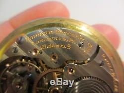 Xfine Antique Hamilton 992 / 21 Jewel 10k Gold Filled Railroad Pocket Watch-nr